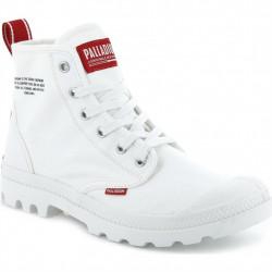 PALLADIUM - PAMPA HI DARE - blanc, coton., coton.