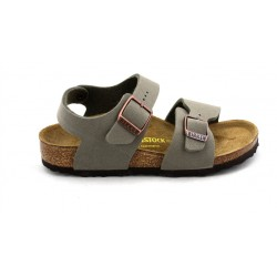 birkenstock - new york - stone, synthétique, liege