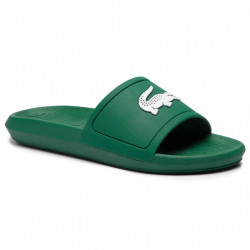 lacoste croco slide - vert, syntetic/textile, syntetic/textile