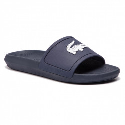 lacoste croco slide - bleu, syntetic/textile, syntetic/textile