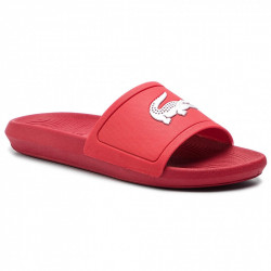 lacoste croco slide - rouge, syntetic/textile, syntetic/textile