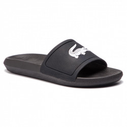 lacoste croco slide - noir, syntetic/textile, syntetic/textile