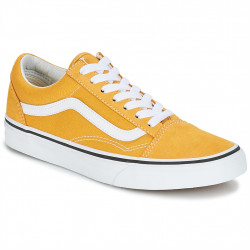 vans chaussures old skool - jaune-moutarde, textile, textile