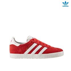 adidas gazelle j - rouge, cuir/suede, cuir/textile