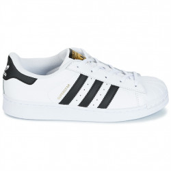 adidas superstar - blanc-noir, cuir, tissu