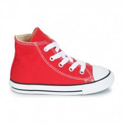converse chuck taylor bébé - rouge, toile, tissu