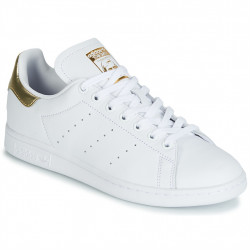 ADIDAS - STAN SMITH W - blanc-or, cuir, cuir/textile