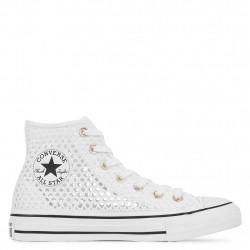 CONVERSE - ALL STAR HANDMADE CROCHET - blanc, textile, textile