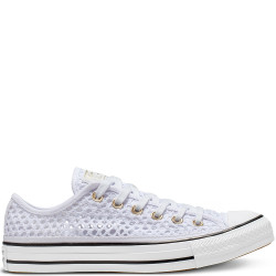CONVERSE - ALL STAR HANDMADE CROCHET OX - blanc, textile, textile