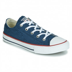CONVERSE - ALL STAR BROADERIE ANGLIAS OX - bleu, textile, textile