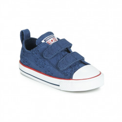 CONVERSE - ALL STAR 2V BROADERIE ANGLIAS OX - bleu, textile, textile