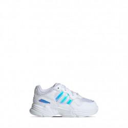ADIDAS - YOUNG-96 - blanc-neon, cuir/textile, cuir/textile