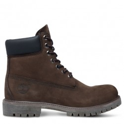 timberland icon 6-inch premium boot 10001 marron - dark brown, cuir, cuir