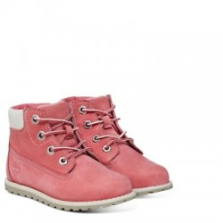 timberland pokey pine 6-inch side zip boot tout-pe - rose, cuir, cuir