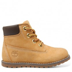 timberland 6-inch boot avec side zip-a125q - wheat-jaune, cuir, tissu