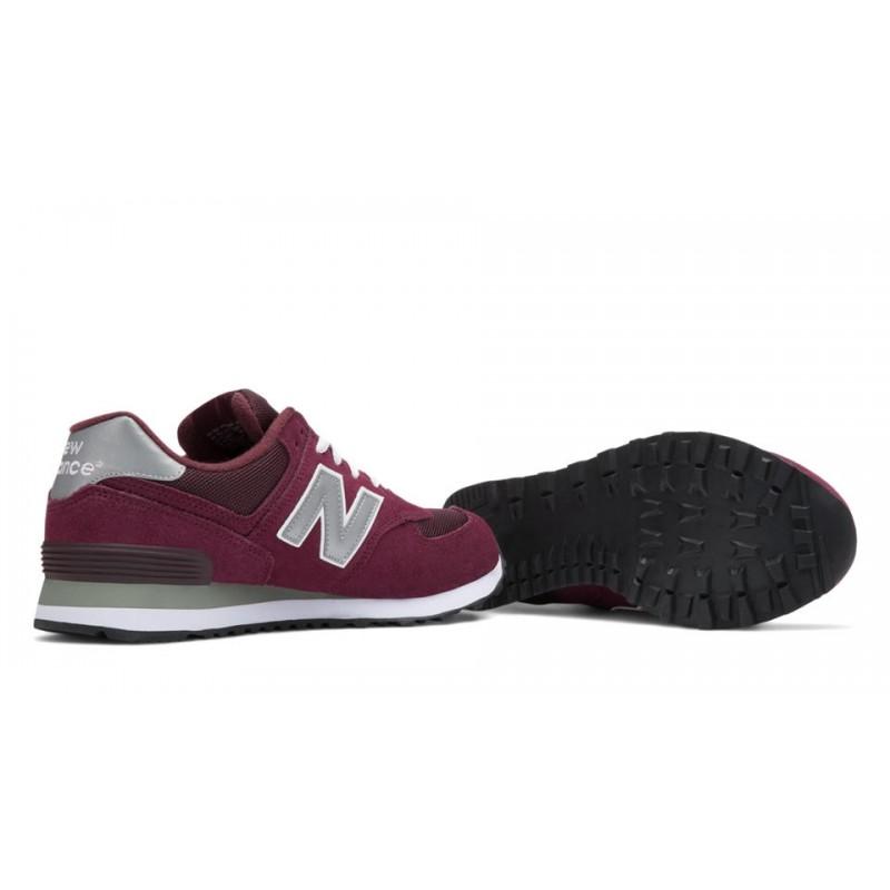 5 18 574 Bordeaux 313751 Nbu Tissu 39 Ad Balance Chaussures Toile New x6wBx