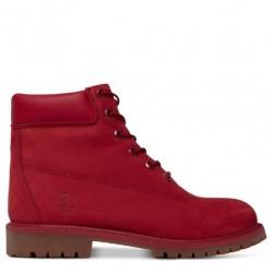 timberland 6-inch premium waterproof boot-a13hv - rouge, cuir, tissu