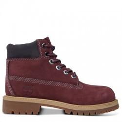 timberland a1baq 6in premium boot - bordeaux, cuir, tissu