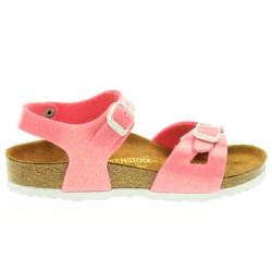 birkenstock rio birko-flor® - magic-pink, synthétique, liege