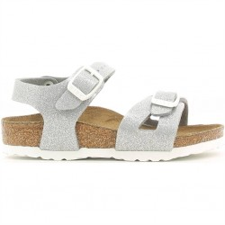 birkenstock rio birko-flor® - magic-silver, synthétique, liege