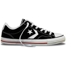 converse star player adulte core canvas ox, basket - noir, toile, tissu